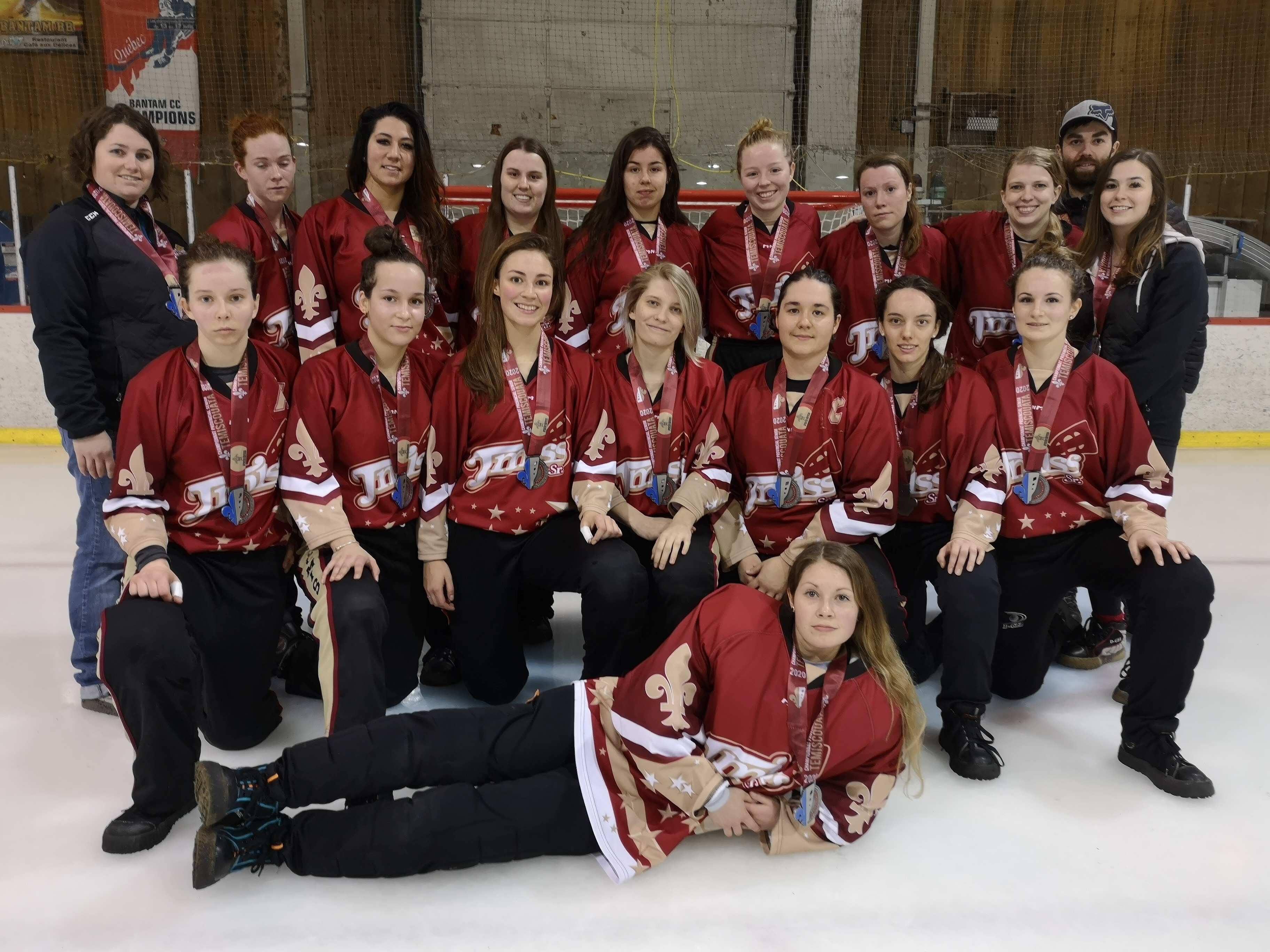 Medaille argent T Miss senior Championnat provincial senior Temiscouata mars 2020